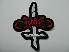 SABBAT   SHAPED  RED   LOGO   EMBROIDERED PATCH