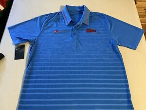 Ole Miss Rebels Nike Football Men Large Polo Shirt New Dri Fit Jersey 50% OFF