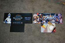RARE PS3 Deception IV & Blazeblue Chromophantasma 2014 Promo Dsiplay Poster NM!!