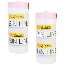 60 Pack of Extra Strong Plastic Bin Bag Liners For Brabantia 40-50L Size H Bins