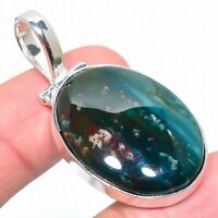 "Bloodstone Gemstone Handmade Ethnic Jewelry Pendant 1.89"" VS-2364"