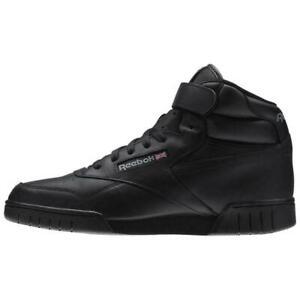 Reebok Men's Classic EX-O-FIT HI Shoes NEW AUTHENTIC Black 3478