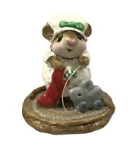 1983 Wee Forest Folk Merry Chris-Miss Child With Pull Toy M-90