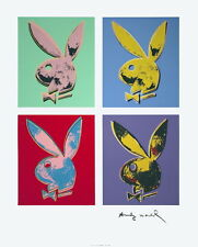 ANDY WARHOL Playboy Bunny x 4 (quad) Original Edition Serigraph Art Print 33x26