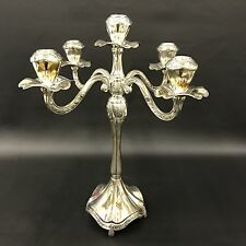 VTG Godinger Candelabra Silver Plated 5 Light Candlestick Holder