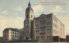 St Boniface Church, School & Monastery San Francisco, CA c1910s Vintage Postcard