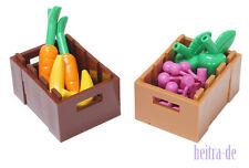 LEGO  - 2 x Kiste 3x4 mit Äpfeln Bananen Möhren Kirschen / 30150 NEUWARE