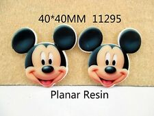 5 x 40 mm Mickey Mouse Testa LASER CUT FLAT BACK RESINA FIOCCHI Cerchietti Card Making