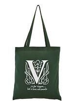 NEW VEGAN Cotton Tote Bag. Emerald green.