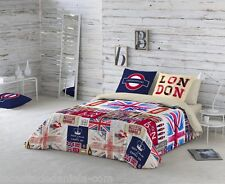 NATURALS Funda nordica cama BRITAIN LONDON 100% algodón /Duvet cover