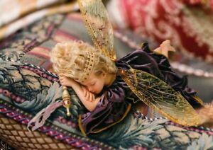 Beautiful Little Sleeping Fairy Queen On Pillow Hallmark Postcards - Set of 2