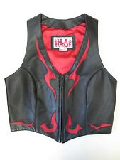 GENUINE HA LEATHERS WOMEN'S MOTORCYCLE VEST SIZE SMALL