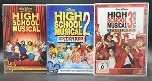 DVD Sammlung: HIGH SCHOOL MUSICAL 1-3 (1 + 2 + 3) Komplett/ Deutsch