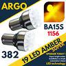 1156 Ba15s LED Ámbar Amarillo 382 Bombilla Peligros 19 Luz Direccional 12v