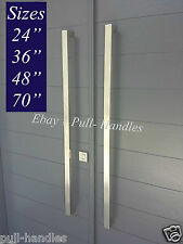 Entry Door Pull Handle push Square Long stainless steel Modern Entrance Glass