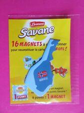 Magnet - Savane Brossard - Carte de l'Europe - Norvège