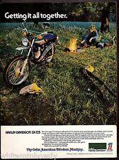1974 HARLEY-DAVIDSON SX-125 Vintage Motorcycle AD