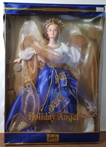 Collector Edition Barbie Holiday Angel Doll Mattel 2000 1st Series Damaged Box