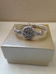 NWOT-Artisan of Bali/Sarda Silver Cuff Bracelet With 18k Yellow Gold Accent sz 7