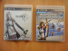 Lot of 2 PlayStation 3 games : Final Fantasy XIII, & Sports Champions
