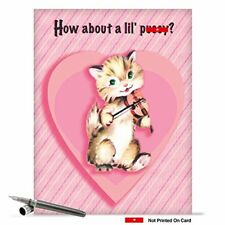 J2126 Jumbo Funny Valentines Day Card: P**sy With Matching Envelope
