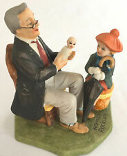 """Limited Edition Norman Rockwell Collectors """"Doctor And The Doll"""" 6.25x6.25x4.5"""""""
