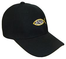 Black & Gold Jesus Fish Adjustable Baseball Cap Hat Caps Hats God Christ TEXT