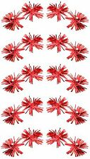 Zest Christmas Tinsel Rosettes with Bells Hair Sleepies Slides Red
