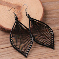 Women Leaf Eardrop Studs Earrings Boho Hook Drop Dangle Earrings Jewelry Gift DP