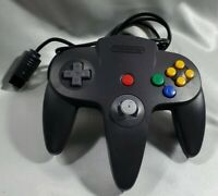 Official Nintendo 64 Controller Black Gray N64 NUS-005 Tested as Working