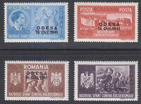 Romania 1941 MNH Mi 712-715 Sc B175-B178 Occupation of Odessa, USSR ** WW2