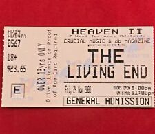 Heaven Nightclub - Chris Cheney / The Living End Concert Ticket - Adelaide 2000