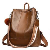 Women's PU Leather Backpack Shoulder Bag Schoolbag Tote Travel Handbag Rucksack