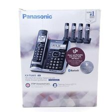 Panasonic KX-TG885SK Bluetooth Cordless Phone With Voice Assist 5 Handsets
