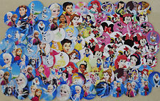 "100- 1"" PRECUT FROZEN, PRINCESS, & MINNIE MOUSE MIX inspired  Bottle cap Images"