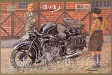 1/35 IBG 35001 BMW R12 Motorcycle with Sidecar - Civilian versions ( 3 in 1)