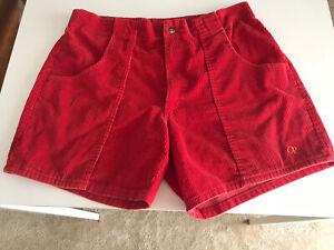 Vintage Red OP Ocean Pacific Corduroy Shorts Size 36