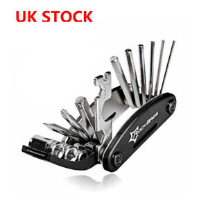 UK RockBros Bicycle Multi 16 in 1 Functional Tool Black Bike Repair Tool