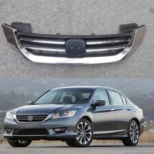 Chrome Front Bumper Upper Radiator Grille Grill For Honda Accord 2013-2015