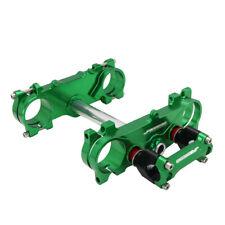 Green Triple Tree Clamps Steering Stem Handlebar Riser Mount Clamp KX250F KX450F