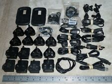 Job Lot 14 Genuine Blackberry Uk Mains Charger Adapter 12 Usb Cable 5 Headsets