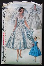 Vintage Original Simplicity 50's Bride's/Bridesmaid Dress Pattern No. 1461