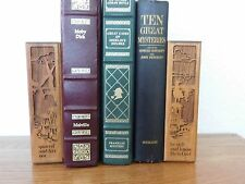 LaserCraft Religious Wooden Block Laser Engraved Solid American Walnut Bookends