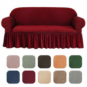 1/2/3/4 Seaters Universal Elastic Stretch Sofa Covers Couch Slipcover with Skirt