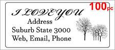 100 Personalised return address label custom mailing sticker 56x25mm trees