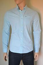 NEW Abercrombie & Fitch Sawteeth Mountain Light Blue Classic Button Down Shirt M
