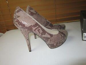 Enzo Angiolini EASMILES Womens 8 M Leather  Tan Snakeskin  HI-Heels Shoe #shoe3
