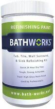 BATHWORKS Bathtub Tile Wall Sink Refinishing Kit Resin Finish White 20 oz.