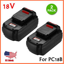 2 Pack 18V 18-Volt NiCd Replacement Battery for Porter Cable PC18B Cordless Tool