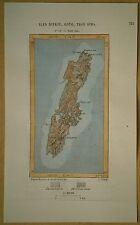 1882 Perron map TSUSHIMA ISLAND, NAGASAKI PREFECTURE, JAPAN (#142)